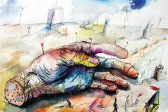 Die Hand des Astronauten