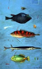 Fischfond-hellblau