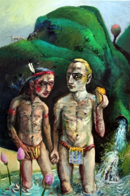 Winnetu & Schätterhend im Bade