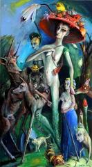 Diana mit Gefolge verläßt den Wald