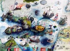 Seekarte Karibik