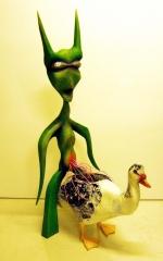Die extraterrestrische Insamination einer Flugente